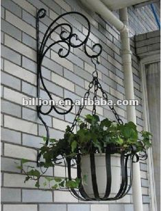wrought iron pot stands - Google Search