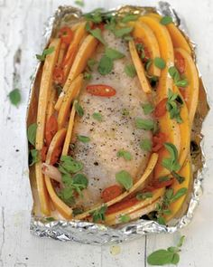 roasted chicken breast with creamy butternut squash and chilli