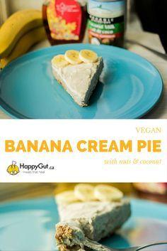 Raw Vegan Banana Cream Pie from