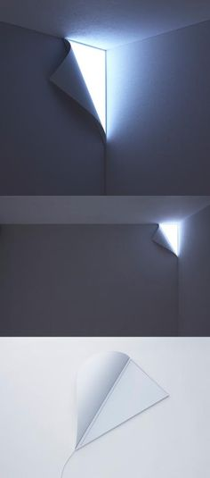 A lamp that looks like the wall is peeling