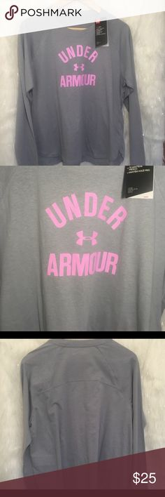 Women's Under Armour Long Sleeve Heat Gear Top Women's Under Armour Long Sleeve Heat Gear Tee Loose Fit, New With Tags!  Workout running jogging yoga exercise comfy casual Under Armour Tops Tees - Long Sleeve #runningexcercises