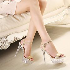 Women super high heel shoes boots silver sandals,size US4.5-11(EUR35-43)meaa833