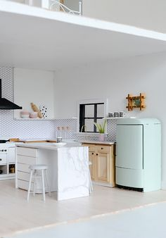 Nalle's House: Little Modern Farmhouse Kitchen #dollhouse