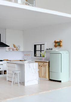 Nalle's House: Little Modern Farmhouse Kitchen #dollhouse