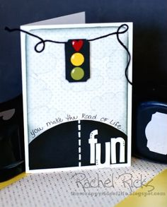 card heart travel journey life is a journey lights traffic The Road of Life . Scrapbooking, Scrapbook Cards, Card Making Inspiration, Making Ideas, Cool Cards, Unique Cards, Punch Art Cards, Masculine Cards, Kids Cards