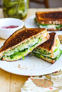 Green Goddess Grilled Cheese Sandwiches - The Girl on Bloor