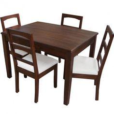 Commodity juego de comedor tmhc226 112t madera juego for Precio juego de comedor con 6 sillas