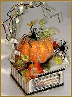 """""""Pumpkin"""" Centerpiece Image - Real Time - Diet, Exercise, Fitness, Finance You for Healthy articles ideas Halloween Food Crafts, Halloween Items, Diy Halloween Decorations, Halloween Cards, Spooky Halloween, Holidays Halloween, Vintage Halloween, Halloween Centerpieces, Halloween Designs"""