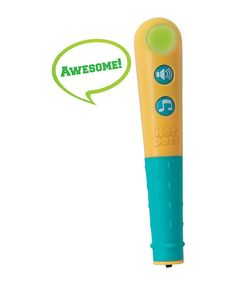 Paired with Hot Dots flash cards, this fancy pen is perfect for independent learning. Simply press the pen to an answer on a Hot Dots card and receive instant visual and audio feedback. The pen responds with fun and motivational phrases for correct answers and gentle redirection for incorrect answers, so little learners will feel confident and supported as they practice.9'' H