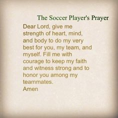The Soccer Players Prayer<<< LOVE
