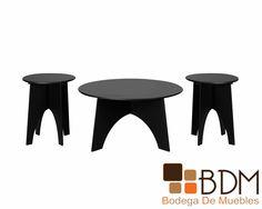 Set de Mesas para Sala Kenzy Artek www.bodegademuebles.com