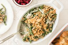 This recipe for Instant Pot Green Bean Casserole tastes like the traditional, but comes together in one pot in under 30 minutes and uses fresh green beans.