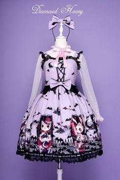 #LowInventory #Warning: The last 2 #Purple Graveyard Carnival jumper dresses available