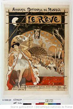 'Le Rêve,' ballet en 2 actes et trois tableaux Musique de L. Gastinel : Académie Nationale de Musique. Affiche T. A. Steinlen 1890