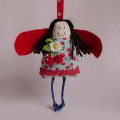 christmas angel red and blue cherries 1 | Flickr - Photo Sharing!