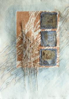 """Down to the Forest Floor by Inga Hunter. Beautiful mixed media work inspired by Blue Mountains landscapes"" Love this work. ...love lots of her work. S"