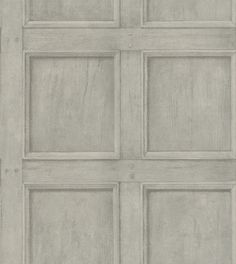 Regent (RE04-GREY) - Andrew Martin Wallpapers - Traditional wood panelling with fine realistic detailing, showing in a grey colouring - other colours are available. Please request a sample for true colour match. Can be hung as a 38.1cm pattern repeat.