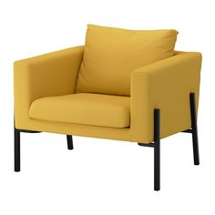 IKEA KOARP Armchair Gräsbo golden-yellow/black High resilience foam makes the armchair soft and comfortable to sit in, and it quickly regains its shape...