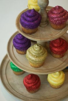 Glitterbomb Cupcakes are all the rage - here is my recipe