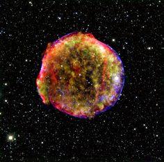 Exploding star.