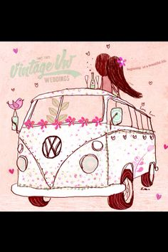 An invite we send out at vintage vw weddings we have 6 different one's, to go with different VW's booked :) Love Bugs, Life Is Beautiful, Save The Date, Invitations, Invite, To Go, Snoopy, Movie Posters, Fictional Characters