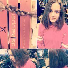 Haardonatie! Omgetoverd in een mooie langere klassieke bob voor Emma! #bob #hairstyles #hairdonation #classic #dekapper #denhaag #dekapperdenhaag