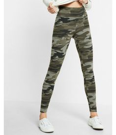 38136492578 High Waisted Sexy Stretch Printed Leggings Camo Women s XXS