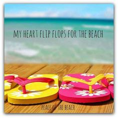 My ♥ flip flops for the beach