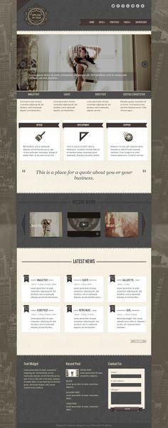 Special - Responsive Vintage WordPress Theme by Lesya Fragrance, via Behance #themeforest #theme #wordpress #wordpresstheme #layout #design #clean