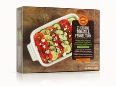 Identity and packaging for a line of gourmet frozen vegetable entrées. By JJAAKK