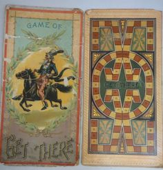 1898 antique BOARD GAME GET THERE McLOUGHLIN BROS uncle sam OWNED ALBERTTRIPP #McLoughlinBros