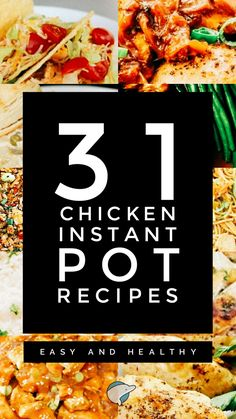 31 Chicken Instant Pot Recipes: Easy and Healthy – Decor Dolphin Chicken Pot Recipe, How To Cook Chicken, Chicken Recipes, Healthy Chicken, Ip Chicken, Barbecue Chicken, Skillet Chicken, Chicken Meals, Garlic Chicken
