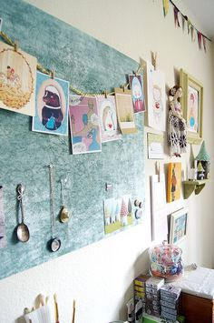 the wall in my art room by jessicajane.love on Flickr