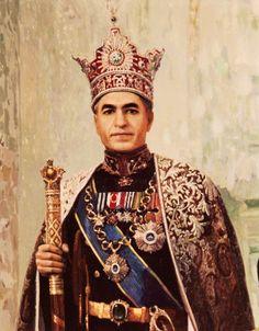Portrait of Mohammad Reza Pahlavi (Tehran, 1919-Cairo, 1980), Iran, last Shah of Iran from 1941 to 1979