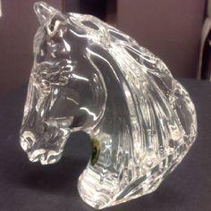 Waterford crystal Horse Head call Rai@800-318-9805