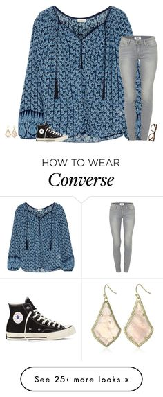 """night"" by secfashion13 on Polyvore featuring Talitha, Paige Denim, Converse, Kendra Scott and Ray-Ban"