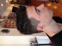 Men's hair cut . Created by Marisa at Entourage Hair Salon and Spa .