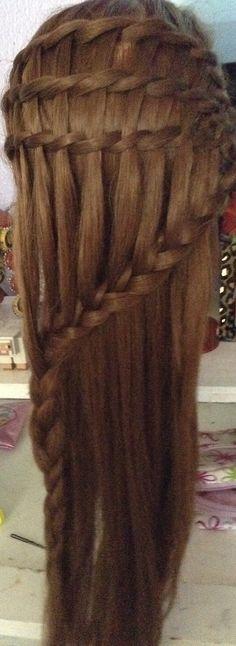 waterfalls & lace braid