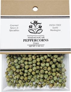 India Tree Peppercorns, Green, .3 oz (Pack of 4) - http://spicegrinder.biz/india-tree-peppercorns-green-3-oz-pack-of-4/