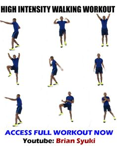 If you want to get fit exercising at home, do this high intensity walking workout #high #intensity #walking #workout #briansyuki Weight Loss Workout Plan, Weight Loss Program, Gym Workouts, At Home Workouts, Elliptical Workouts, Workout Routines, Fitness Motivation, Walking Exercise, Walking Workouts