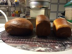 Portuguese Sweet Bread and White Sandwich Loaves