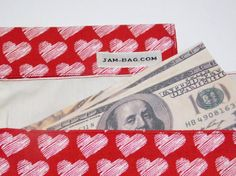 Valentine Money Gift Envelope, Coupon Organizer, Fabric Envelope, Receipt Holder, Money Envelopes, Cash Envelopes, Budget Envelope, Vegan Wallet -----------------------------------------------------------------------------  Its just nice to have something like this when you keep some cash in your house, in the drawer or in the inner pocket of your bag. This is a perfect accompany for cash budgeting.  There is no closure, no snaps no zipper. Because this is also an eco friendly product. Thus…