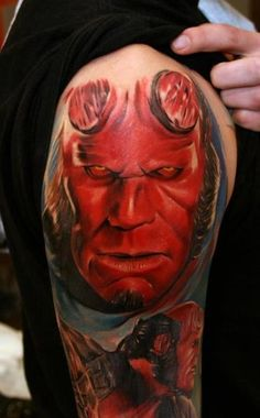 Cool Hellboy Movie Tattoo