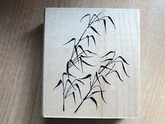 BN Hobby Art Wooden Backed Rubber Ink Stamp BAMBOO SHOOTS   eBay