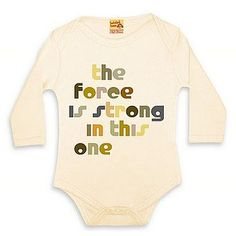 the force is strong in this one onesie