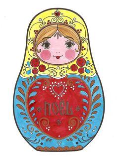 matriochka/ coloriage