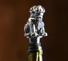 Bulldog Bottle Stopper #Pottery Barn