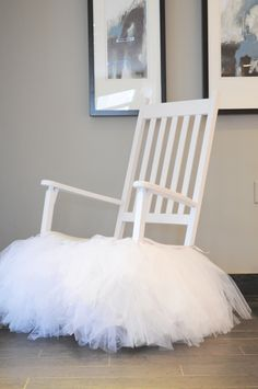 Baby Shower Mommy to Be Chair | custom made this tutu especially for this rocking chair. You can ...