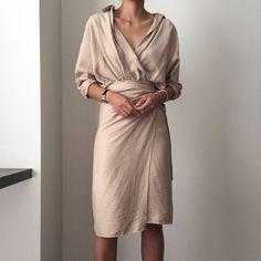 7618e62aaac3 Wrap Dress with Batwing Sleeves. Batwing SleeveLong SleeveLovely  DressesElegant ...