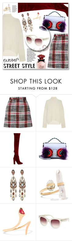 """Perfect look for London/Milan Fashion week with Smartbuyglasses"" by dressedbyrose ❤ liked on Polyvore featuring Marni, Brock Collection, Aquazzura, Fendi, Diego Percossi Papi, Melissa Joy Manning, Fernando Jorge, Dolce&Gabbana and smarbuyglasses"
